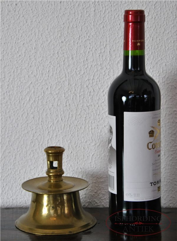 Candlestick with bottle