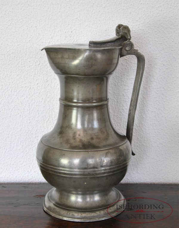 Pewter Swiss flagon