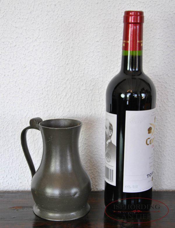 Pewter English flagon with bottle