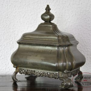 Pewter tobacco box