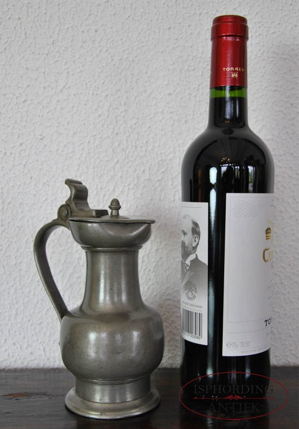 Pewter German flagon with bottle