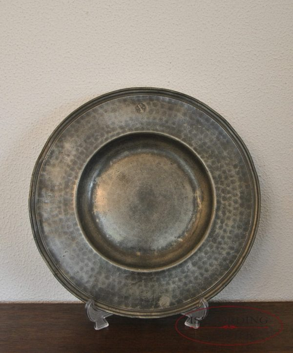 Pewter French plate