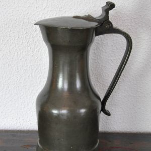 Pewter Parisian flagon