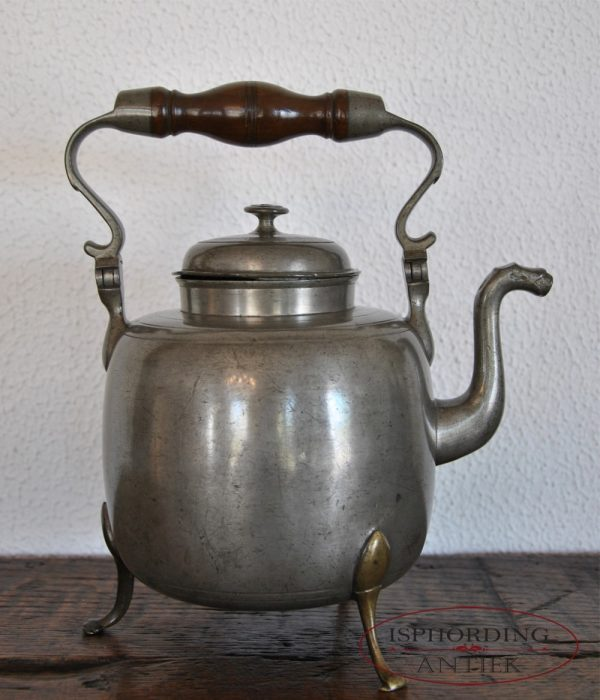 Pewter coffee pot right