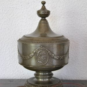 Pewter tobacco jar