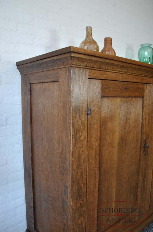 Antique German cupboard side