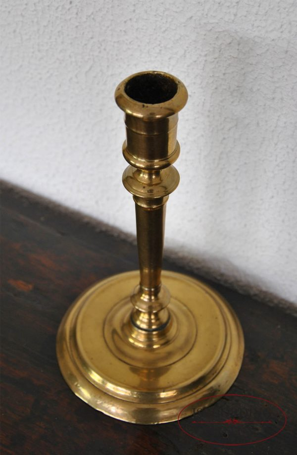Antique French candlestick top