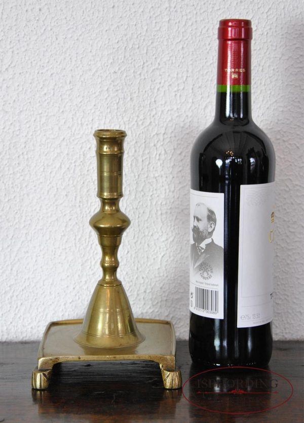 Antique Spanish candlestick with bottle