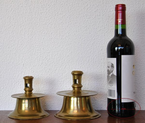 Candlestick with bottle and candlestick