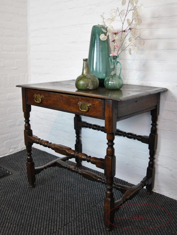 Antique English table side