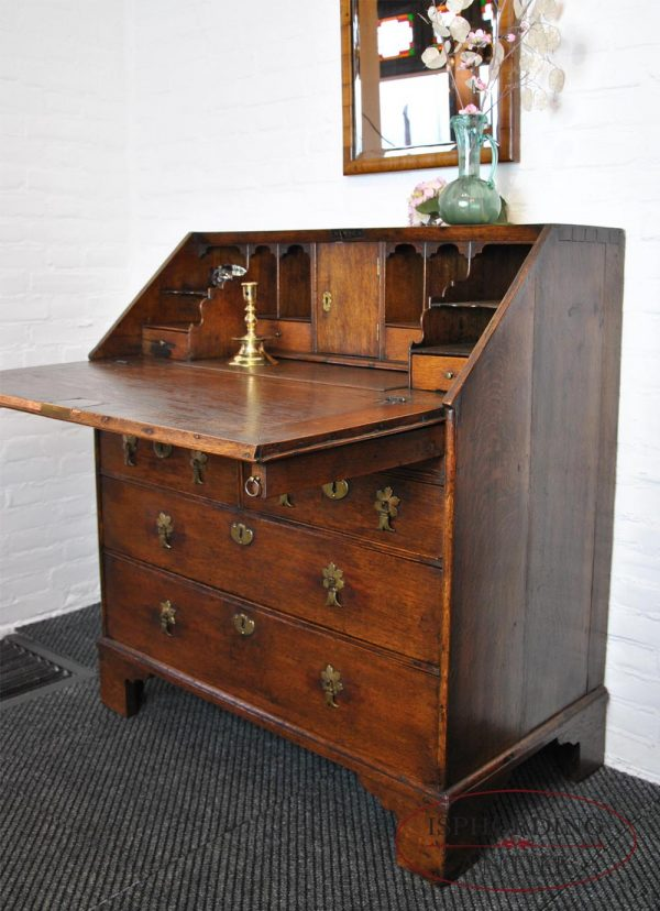 Antique secretaire side