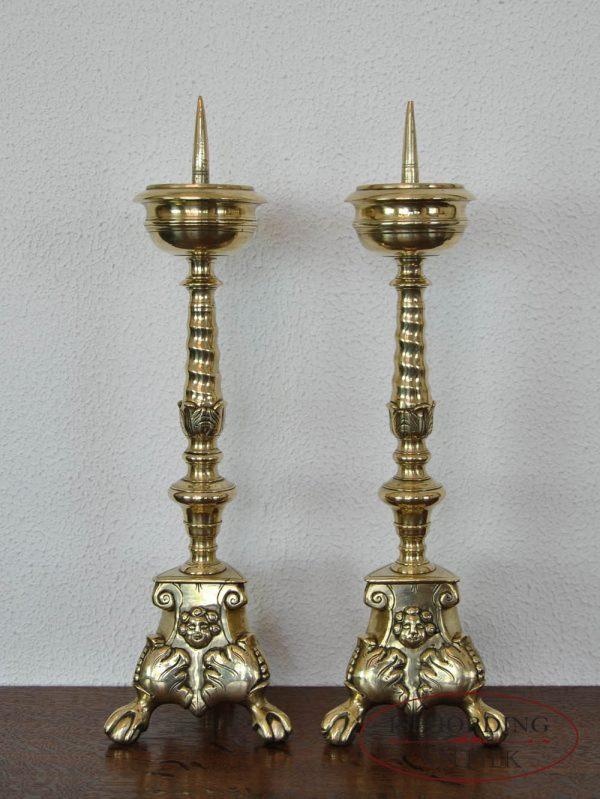 Pricket candlesticks