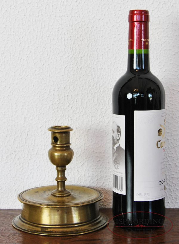 Spanish candlestick with bottle