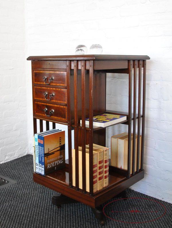 Revolving bookcase side
